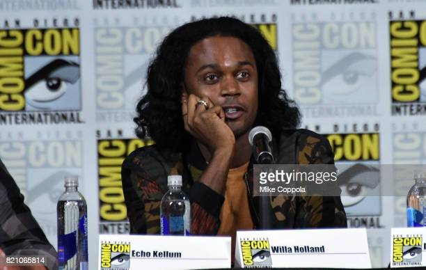 Actor Echo Kellum attends the 'Arrow' Video Presentation And QA during ComicCon International 2017 at San Diego Convention Center on July 22 2017 in...