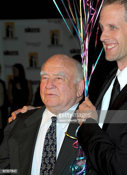 Actor Ed Asner and animator Pete Docter arrive at the 13th annual Hollywood Awards Gala Ceremony held at The Beverly Hilton Hotel on October 26 2009...