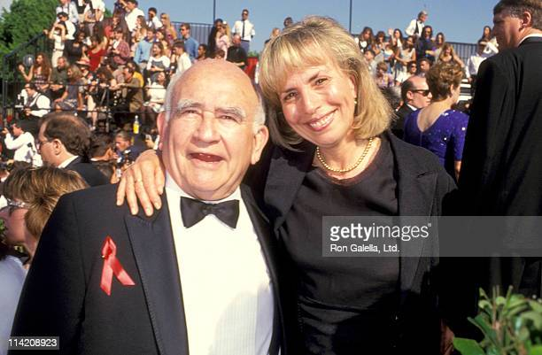 Actor Ed Asner and Cindy Gilmore attend 46th Annual Primetime Emmy Awards on September 11 1994 at the Pasadena Civic Auditorium in Pasadena California