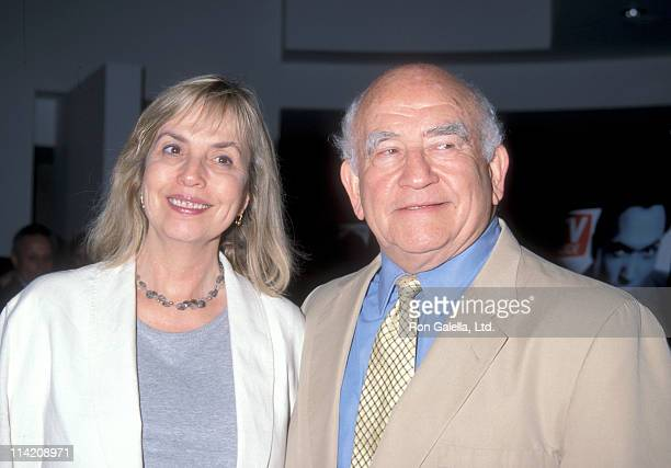 Actor Ed Asner and Cindy Gilmore attend A Television Diary 45 Years of TV Guide Covers Celebration on September 15 1998 at the Museum of Television...