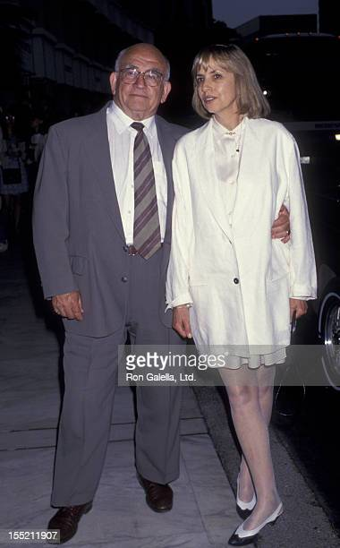 Actor Ed Asner and Cindy Gilmore attend ABC TV Affiliates Party on June 9 1994 at the Century Plaza Hotel in Century City California