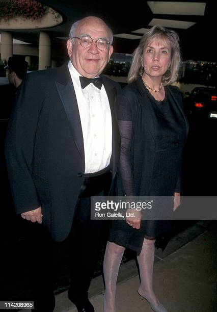 Actor Ed Asner and Cindy Gilmore attend Miracles Gala Dinner In Honor of Rosie O'Donnell on August 21 1998 at the Beverly Hilton Hotel in Beverly...