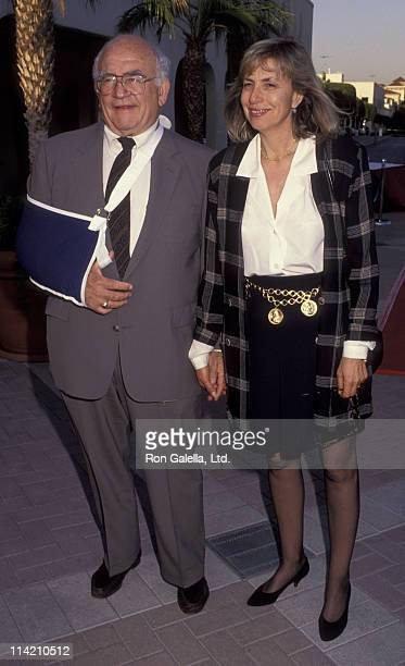Actor Ed Asner and Cindy Gilmore attend Outreach Awards on June 17 1992 at Paramount Studios in Hollywood California