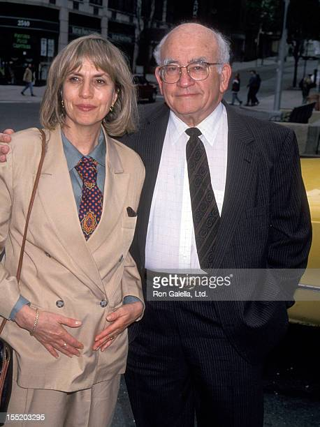 Actor Ed Asner and Cindy Gilmore attend Second Annual Drama Quartet's Performance of Don Juan in Hell on May 18 1994 at the Symphony Space Theater in...