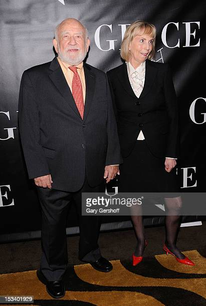 Actor Ed Asner and Cindy Gilmore attend the 'Grace' Broadway opening night after party at the Copacabana on October 4 2012 in New York City
