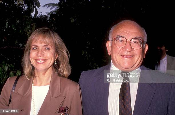 Actor Ed Asner and Cindy Gilmore attend the nominees luncheon for 43rd Annual Primetime Emmy Awards on August 20 1991 at the Westwood Marquis Hotel...