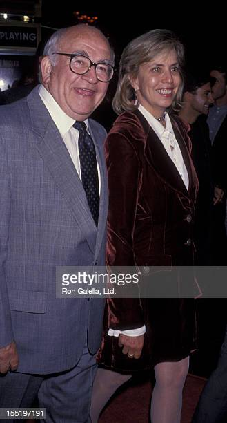 Actor Ed Asner and Cindy Gilmore attend the world premiere of Gypsy on November 1 1993 at El Capitan Theater in Hollywood California
