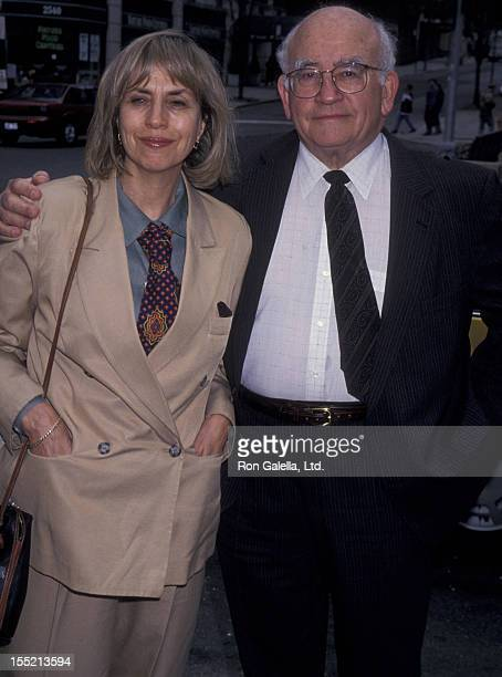 Actor Ed Asner and Cindy Gilmore attends the performance of Don Juan In Hell on May 18 1994 at the Symphony Space Theater in New York City