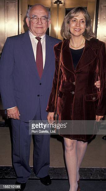 Actor Ed Asner and Cindy Gilmore sighted on May 10 1994 at the Westbury Hotel in New York City