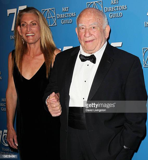 Actor Ed Asner and daughter Liza Asner attend the 16th annual Art Directors Guild Awards at The Beverly Hilton on February 4 2012 in Beverly Hills...