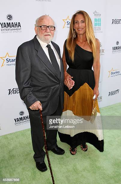 Actor Ed Asner and daughter Liza attend Heifer International's 3rd Annual Beyond Hunger A Place At The Table Gala at Montage Beverly Hills on August...