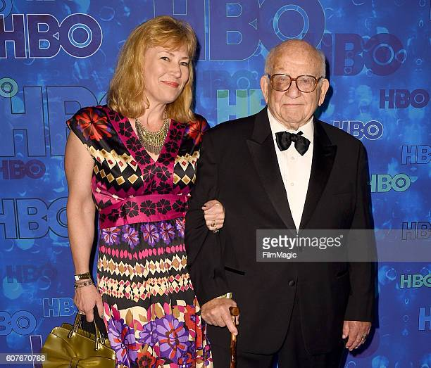 Actor Ed Asner and producer Cindy Gilmore attend HBO's Official 2016 Emmy After Party at The Plaza at the Pacific Design Center on September 18, 2016...