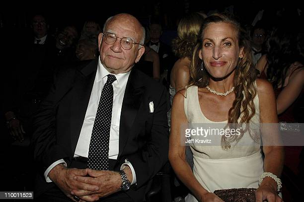 Actor Ed Asner and producer Cindy Gilmore during the 59th Annual Primetime EMMY Awards at the Shrine Auditorium on September 16 2007 in New York City...