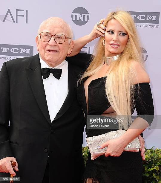 Actor Ed Asner and Yvette Rachelle attend the 44th AFI Life Achievement Awards gala tribute at Dolby Theatre on June 9 2016 in Hollywood California