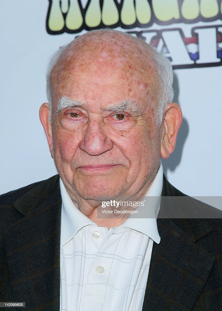 Actor Ed Asner arrives for the premiere of 'Margarine Wars' at ArcLight Hollywood on March 29, 2012 in Hollywood, California.