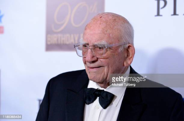 Actor Ed Asner attends his 90th Birthday Party and Celebrity Roast at The Roosevelt Hotel on November 03 2019 in Hollywood California