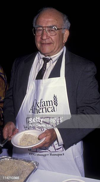 Actor Ed Asner attends Oxfam America's Hunger Banquet Benefit on November 19 1992 at the Barker Hanger at Santa Monica Airport in Santa Monica...