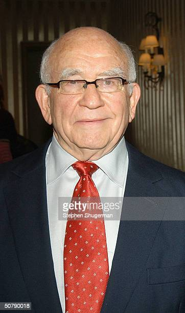 Actor Ed Asner attends Senator Barbara Boxer's Women Making History Honors Annette Bening at the St Regis Hotel on April 30 2004 in Century City...