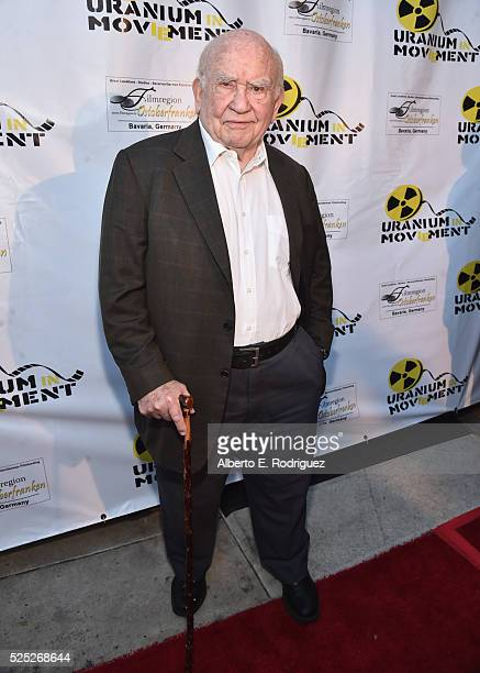 """Actor Ed Asner attends the Atomic Age Cinema Fest Premiere of """"The Man Who Saved The World"""" at Raleigh Studios on April 27, 2016 in Los Angeles,..."""