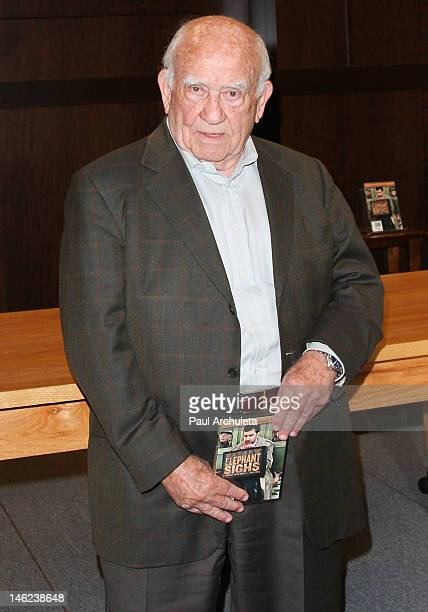 Actor Ed Asner attends the DVD signing for Elephant Sighs at Barnes Noble bookstore at The Grove on June 12 2012 in Los Angeles California