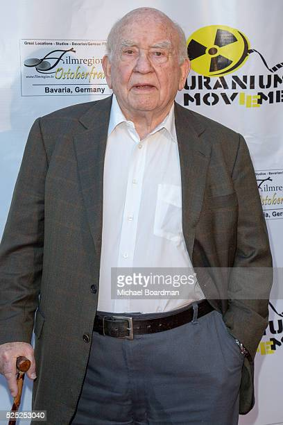 """Actor Ed Asner attends """"The Man Who Saved The World"""" premiere during the Atomic Age Cinema Fest at Raleigh Studios on April 27, 2016 in Los Angeles,..."""