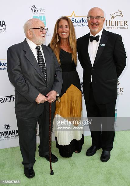 Actor Ed Asner daughter Liza Asner and President and CEO of Heifer International Pierre Ferrari attend Heifer International's 3rd Annual Beyond...