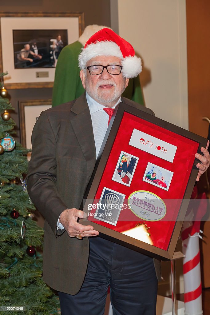"Ed Asner Lights First Ever Warner Bros. VIP Tour Christmas Tree And Salutes The 10th Anniversary Of WB Holiday Classic ""Elf"""