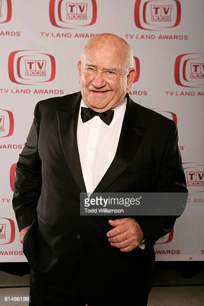 Actor Ed Asner poses for a portrait during the 6th annual 'TV Land Awards' held at Barker Hangar on June 8 2008 in Santa Monica California