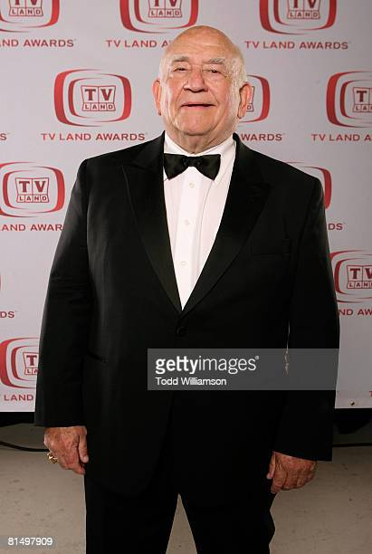 Actor Ed Asner poses for a portrait during the 6th annual TV Land Awards held at Barker Hangar on June 8 2008 in Santa Monica California