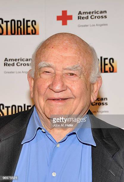 Actor Ed Asner takes part in the benefit reading of 110 Stories by Sarah Tuft at the Geffen Playhouse on February 22 2010 in Westwood California