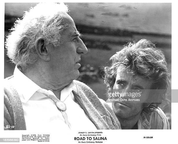 Actor Ed Begley and Robert Walker Jron set of the movie Road to Salina in 1970