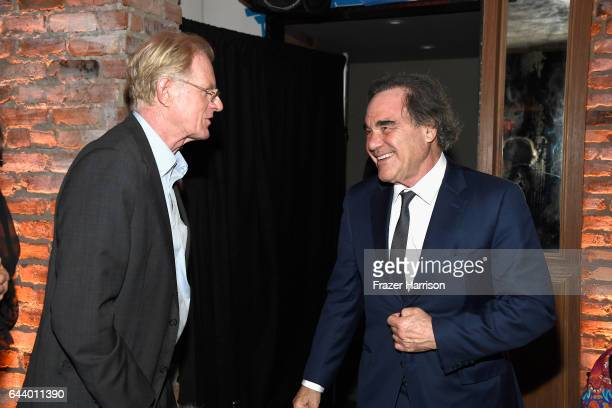 Actor Ed Begley Jr and flimmaker Oliver Stone attend the 14th Annual Global Green Pre Oscar Party at TAO Hollywood on February 22 2017 in Los Angeles...