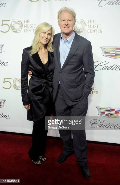 Actor Ed Begley Jr and Rachelle CarsonBegley arrive at The Music Center's 50th Anniversary launch party at Dorothy Chandler Pavilion on April 1 2014...