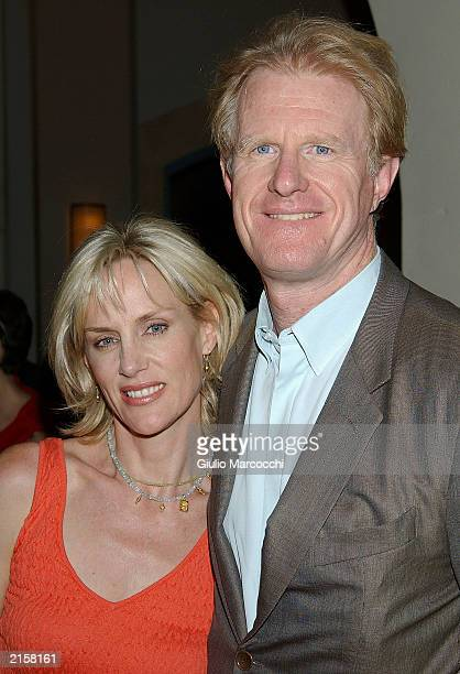 Actor Ed Begley Jr and wife Michelle arrive at Mindy Sterling's 50th birthday party at the Rosevelt Hotel on July 12 2003 in Hollywood California