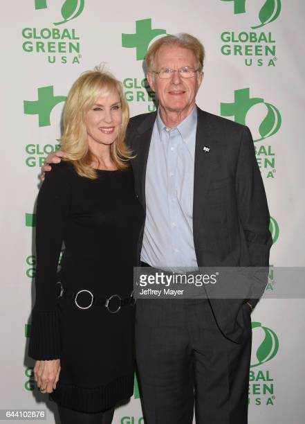 Actor Ed Begley Jr and wife Rachelle Carson arrive at the 14th Annual Global Green PreOscar Gala at TAO Hollywood on February 22 2017 in Los Angeles...