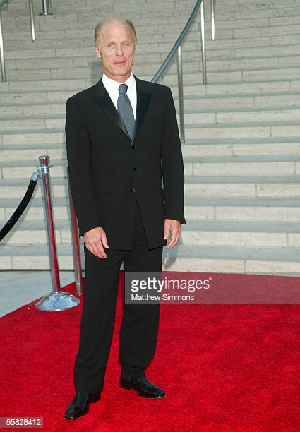 Actor Ed Harris arrives at the opening night gala of the Los Angeles Philharmonic at the Walt Disney Concert Hall September 29 2005 in Los Angeles...