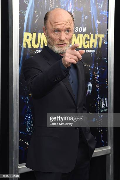 Actor Ed Harris attends the Run All Night New York Premiere at AMC Lincoln Square Theater on March 9 2015 in New York City