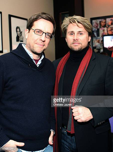 Actor Ed Helms and producer Ken Johnson attend the Manure premiere after party at Eldridge in the Hollywood Life House on January 21 2009 in Park...