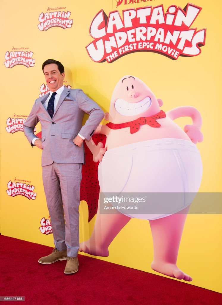 Actor Ed Helms arrives at the premiere of 20th Century Fox's 'Captain Underpants: The First Epic Movie' at the Regency Village Theatre on May 21, 2017 in Westwood, California.
