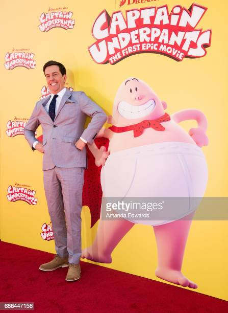 Actor Ed Helms arrives at the premiere of 20th Century Fox's 'Captain Underpants The First Epic Movie' at the Regency Village Theatre on May 21 2017...
