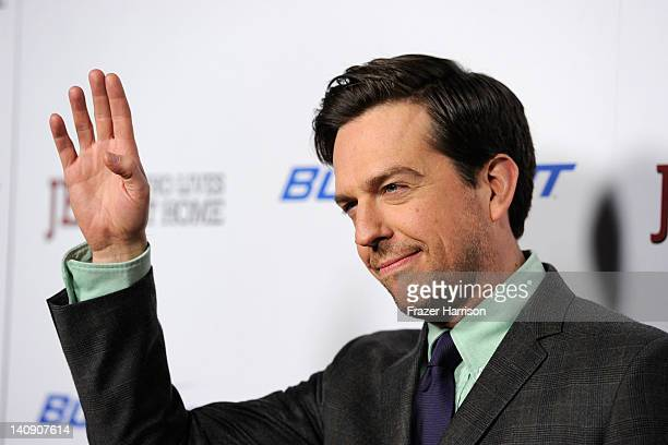 Actor Ed Helms arrives at the Premiere Of Paramount Vantage and Indian Paintbrush's Jeff Who Lives At Home at DGA Theater on March 7 2012 in Los...