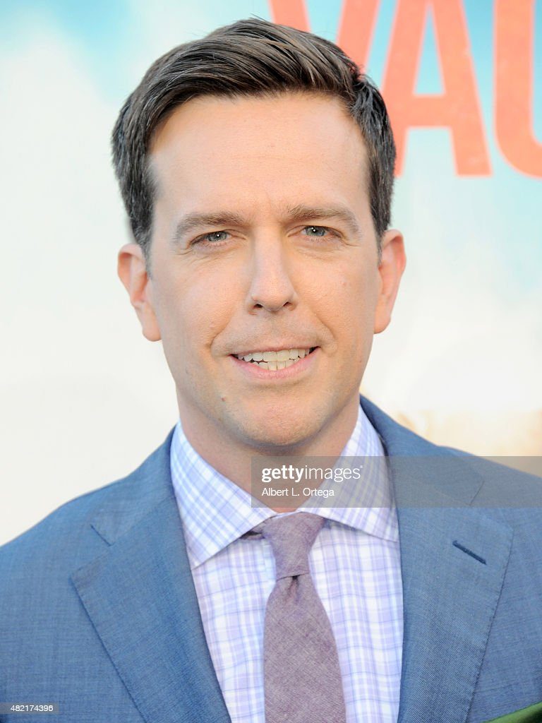 Actor Ed Helms arrives for the Premiere Of Warner Bros. Pictures' 'Vacation' held at Regency Village Theatre on July 27, 2015 in Westwood, California.