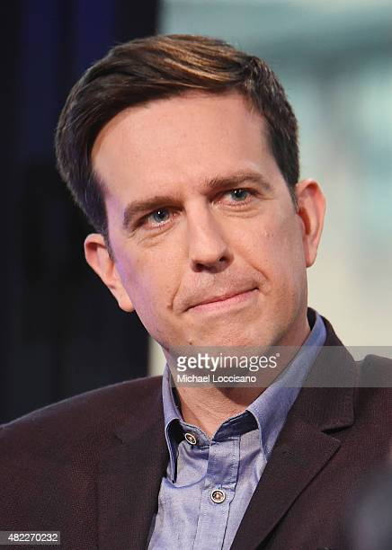 Actor Ed Helms attends AOL BUILD Speaker Series Presents Vacation at AOL Studios in New York on July 29 2015 in New York City