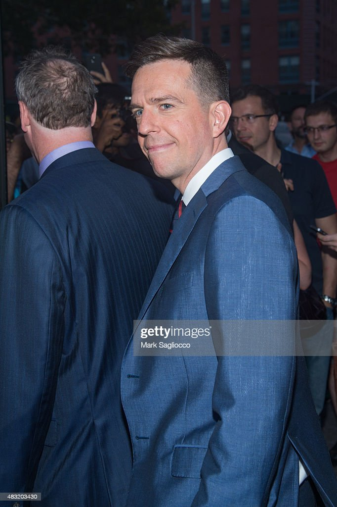 Actor Ed Helms attends the final 'The Daily Show With Jon Stewart' on August 6, 2015 in New York City.