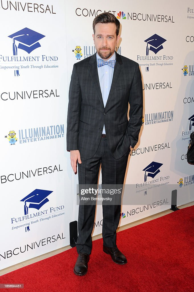 Actor Ed Helms attends the Fulfillment Fund Stars 2013 Benefit Gala at The Beverly Hilton Hotel on October 23, 2013 in Beverly Hills, California.