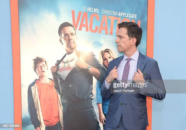 Actor Ed Helms attends the premiere of Vacation at Regency Village Theatre on July 27 2015 in Westwood California