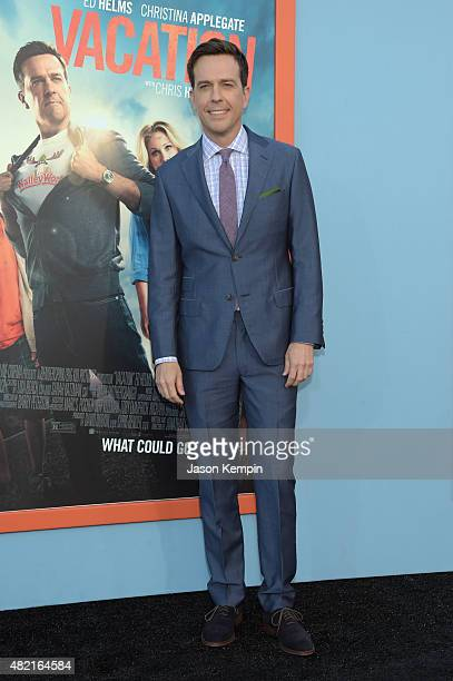 Actor Ed Helms attends the premiere of Warner Bros Vacation at Regency Village Theatre on July 27 2015 in Westwood California