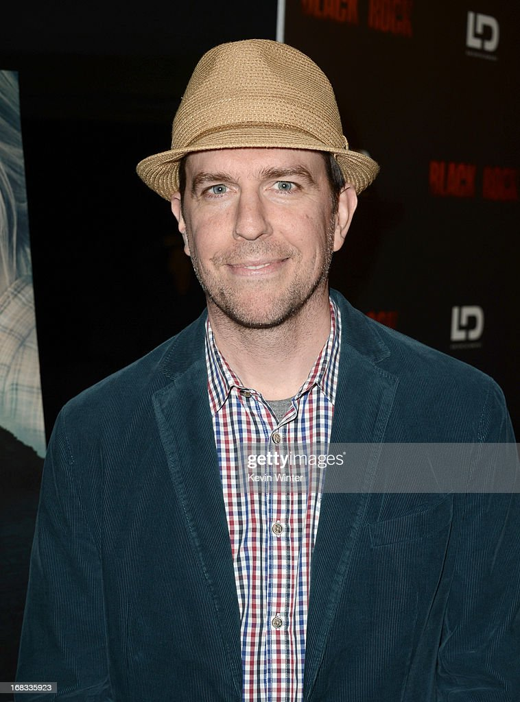 Actor Ed Helms attends the screening of LD Entertainment's 'Black Rock' at ArcLight Hollywood on May 8, 2013 in Hollywood, California.
