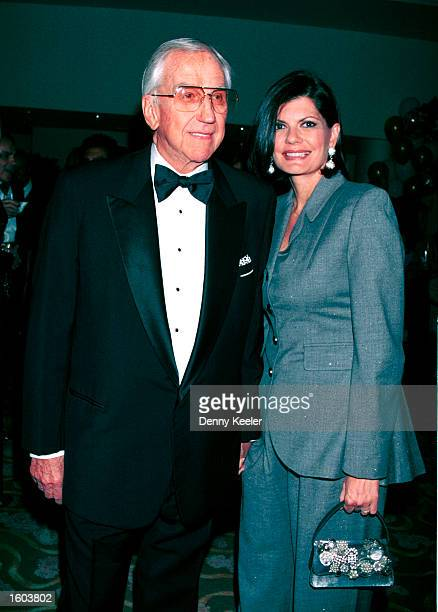 Actor Ed McMahon and his wife Pam attend the Hollywood Gala Salute To Milton Berle July 22 2001 in Beverly Hills CA The event celebrated Berle''s...