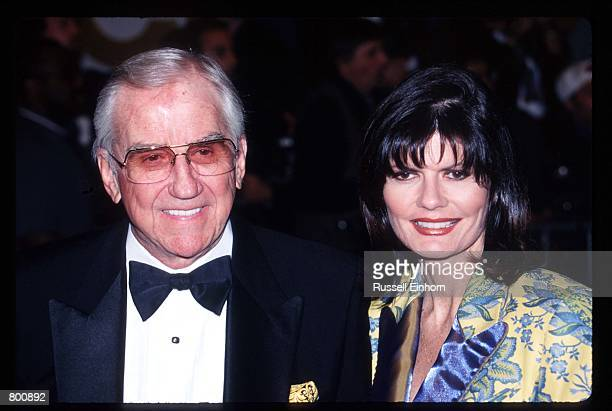 Actor Ed McMahon and wife Pam Hurn attend Elizabeth Taylor's 65th birthday party February 16 1997 in Los Angeles CA Twotime Academy Award winner...